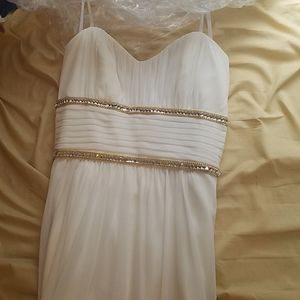 White prom/formal dress.